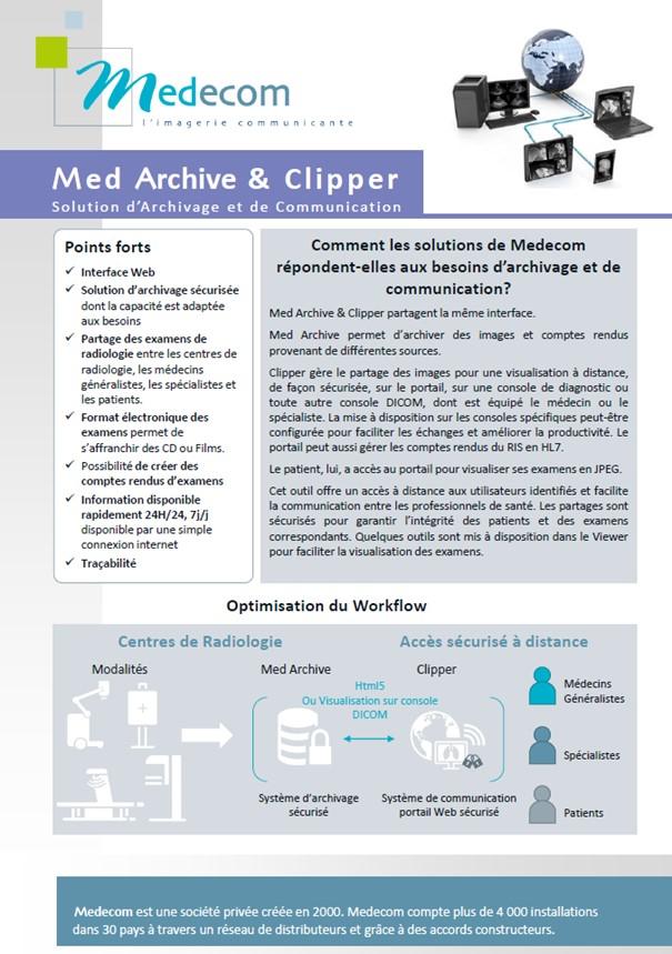 Brochure - Med Archive & Clipper - Archiving & Communication - Mini PACS