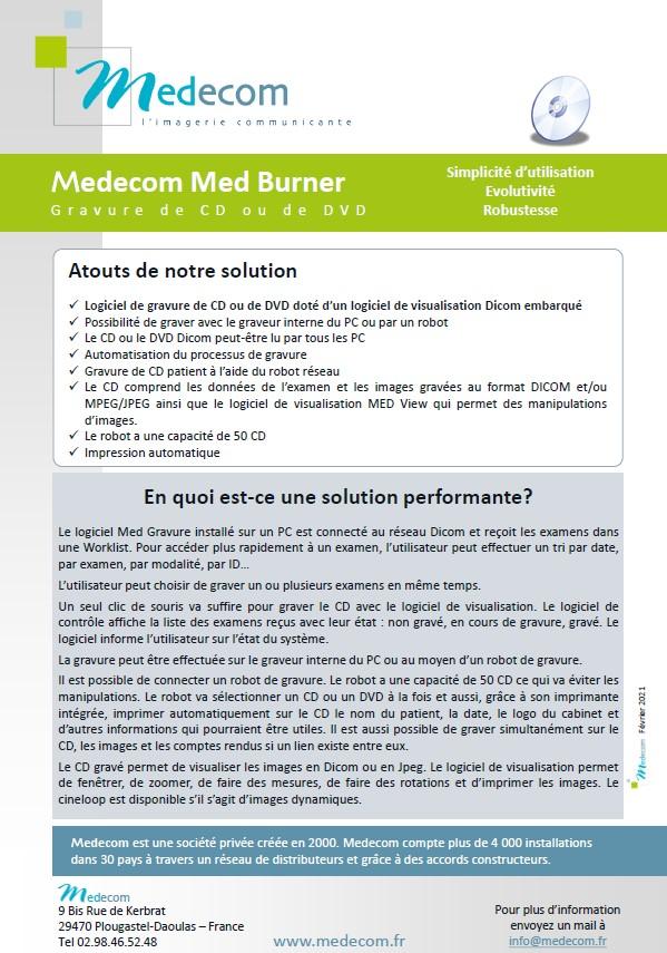 Brochure Med Burner - CD/DVD Burner Solution