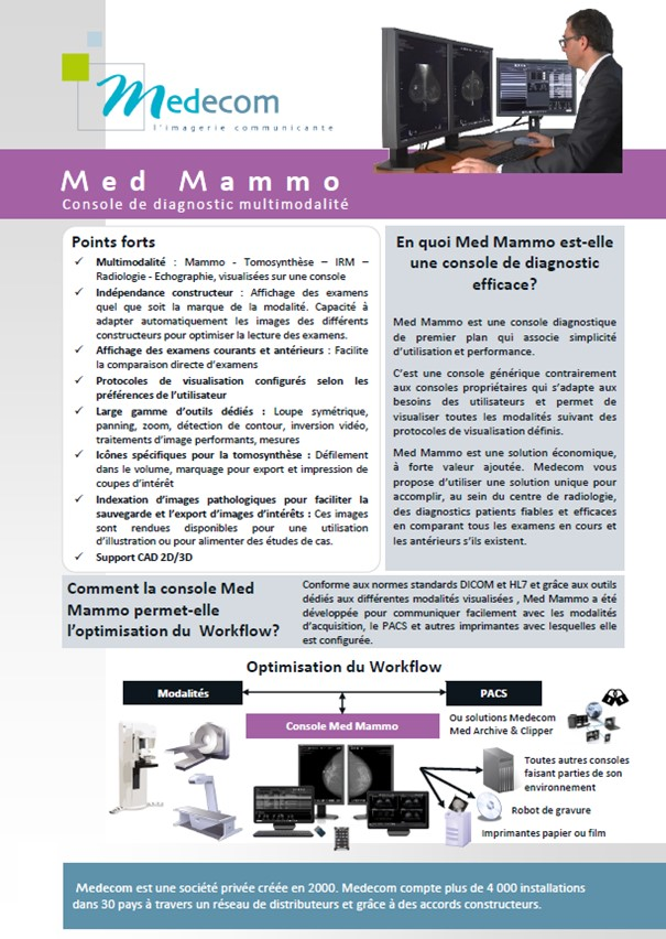Brochure Med Mammo - Multimodality Diagnostic Workstation for Mammography