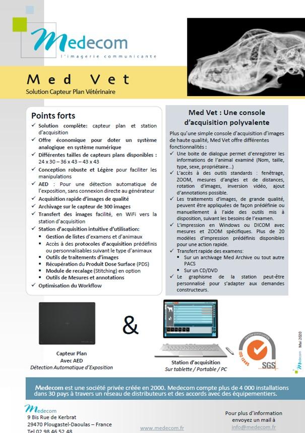 Brochure Med Vet - Flat Panel & Acquisition Workstation for Veterinary