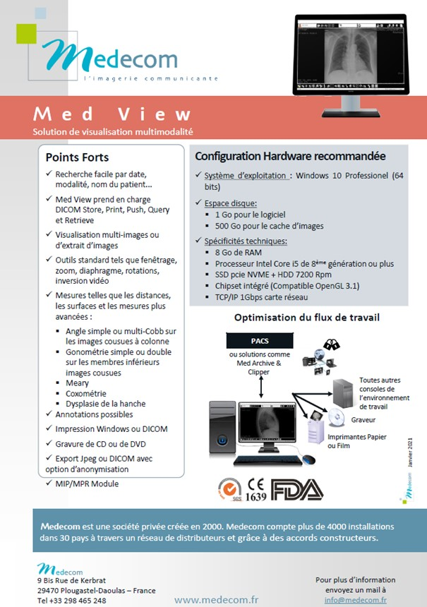 Brochure Med View - Multimodality Visualization Workstation