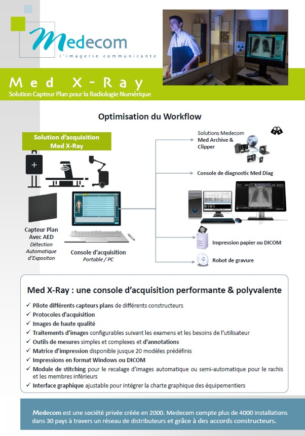 Brochure Med XRay - Flat Panel & Acquisition Workstation for Radiology