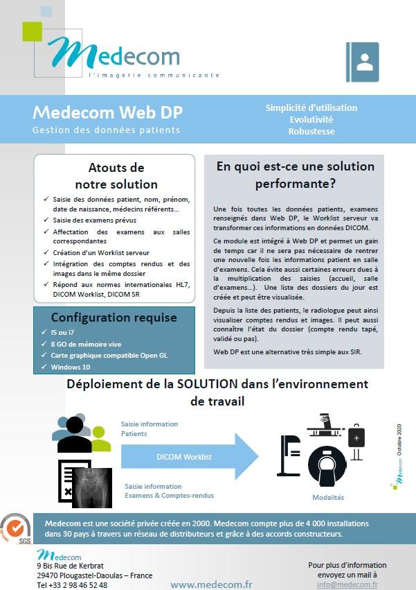 Brochure Web DP - Patient's Data Management Server